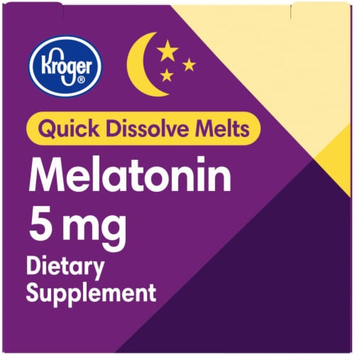 Kroger® Quick Dissolve Cherry Flavor Melatonin 5mg 30 Count Perspective: right
