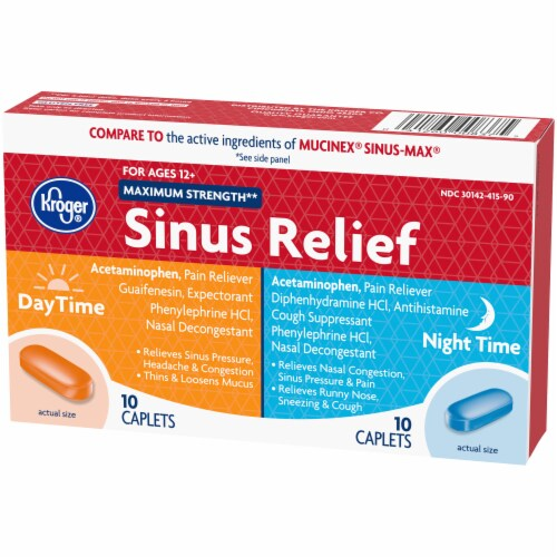 Kroger® Maximum Strength Daytime and Night Time Sinus Relief Perspective: right