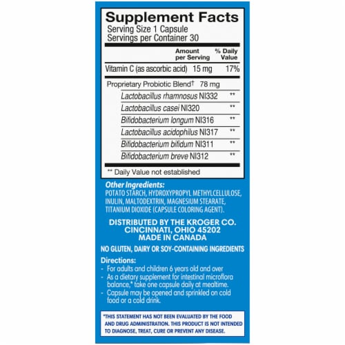 Kroger® Daily Probiotic Capsules Perspective: right