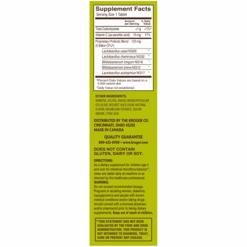Kroger® Cherry and Berry Children's Chewable Probiotic Tablets Perspective: right