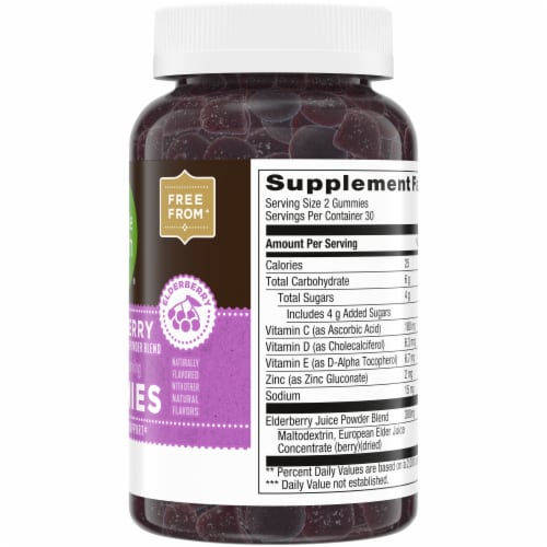 Simple Truth® Elderberry Gummies 300mg 60 Count Perspective: right
