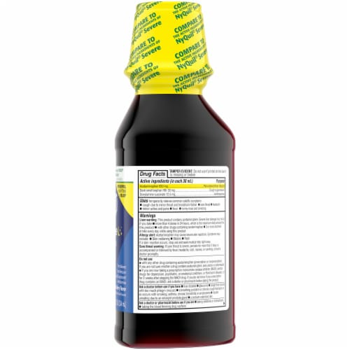 Kroger® Mixed Berry NightTime Cold & Flu Multi-Symptom Relief Liquid Perspective: right