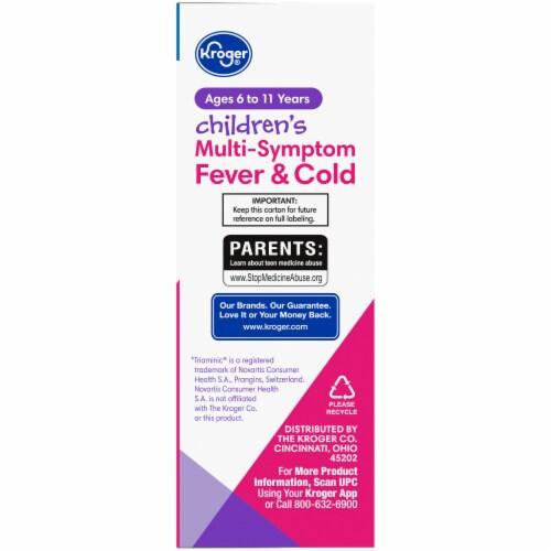 Kroger® Children's Grape Flavor Multi-Symptom Fever & Cold Liquid Perspective: right