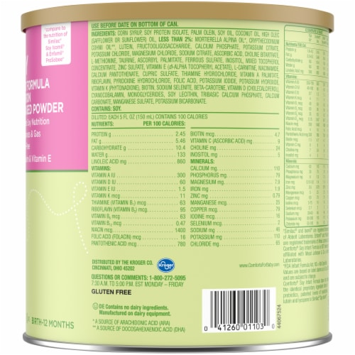 Comforts Stage 1 Soy Powder with Iron Baby Formula Perspective: right