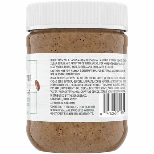 Simple Truth® Cocoa and Cacao Nut Butter Scrub Perspective: right