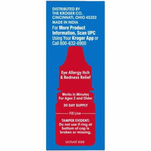 Kroger® Eye Allergy Itch and Redness Relief Drops Perspective: right