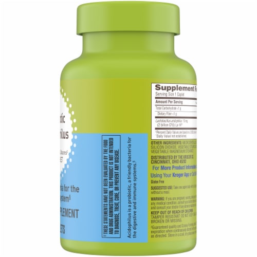 Kroger® Probiotic Acidophilus Dietary Supplement Perspective: right