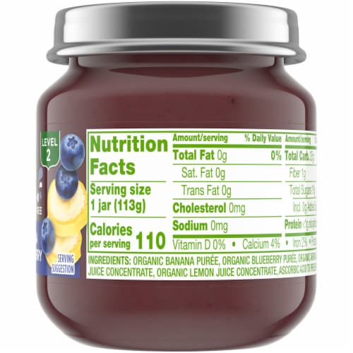 Simple Truth Organic® Banana and Blueberry Baby Food Puree Perspective: right
