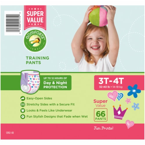 Comforts™ Day & Night 3T-4T Girls Training Pants Perspective: right