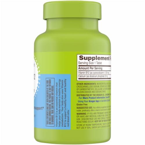 Kroger® Vitamin B12 1000mcg Tablets Perspective: right