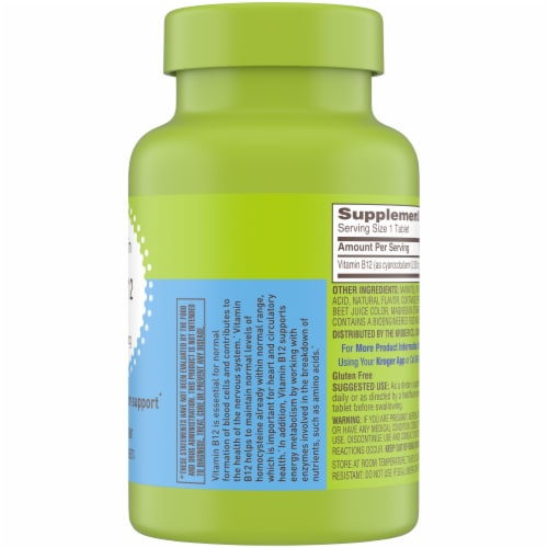 Kroger® Vitamin B12 Energy Metabolism Support 2500mcg Perspective: right