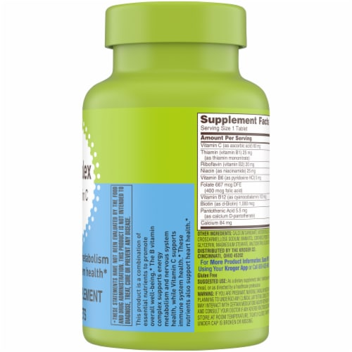 Kroger® B Complex with Vitamin C Perspective: right