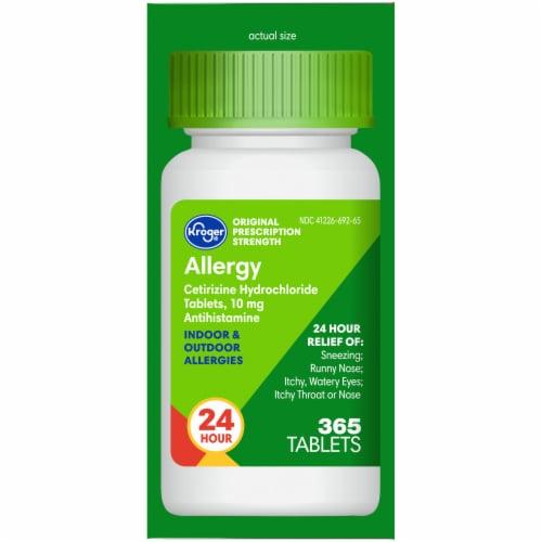 Kroger 24 Hour Indoor & Outdoor Allergy Relief Tablets Perspective: right