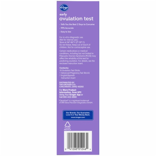Kroger Ovulation Kit & Advanced Pregnancy Test Perspective: right