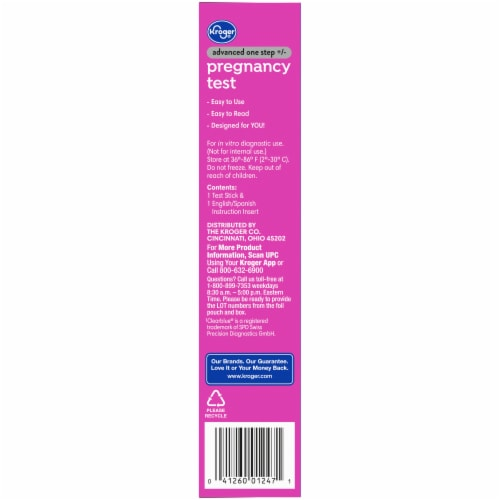 Kroger® Advanced Pregnancy Test Perspective: right
