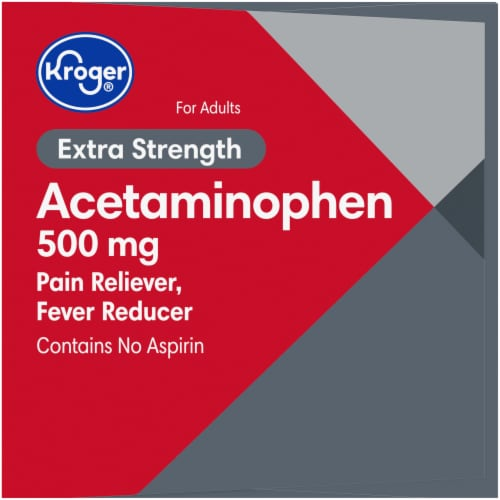 Kroger® Extra Strength Acetaminophen Rapid Release Gelcaps 500mg Perspective: right