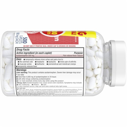Kroger® Extra Strength 500 mg Acetaminophen Caplets Twin Pack Perspective: right