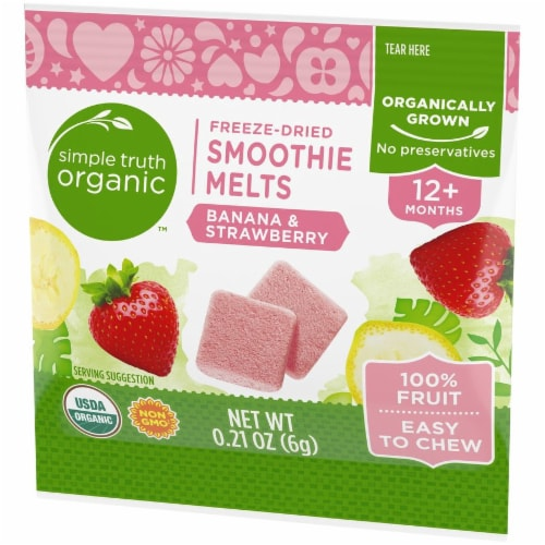 Simple Truth Organic™ Banana & Strawberry Freeze-Dried Smoothie Melts Perspective: right