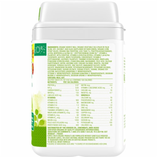 Simple Truth Organic™ Milk-Based Infant Formula Powder with Iron Perspective: right