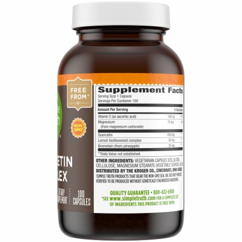 Simple Truth™ Quercetin Complex Capsules Perspective: right