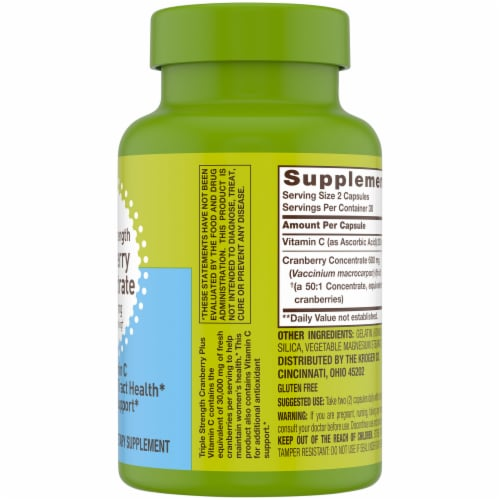 Kroger® Triple Strength Cranberry Concentrate Capsules 30000mg 60 Count Perspective: right