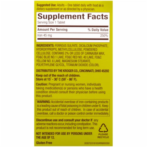 Kroger® Women's Health Slow Release Iron Tablets Perspective: right