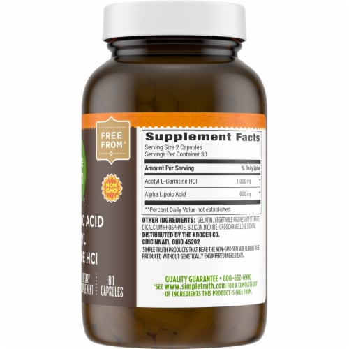 Simple Truth™ Alpha Lipoic Acid & Acetyl L-Carnitine HCI Capsules Perspective: right