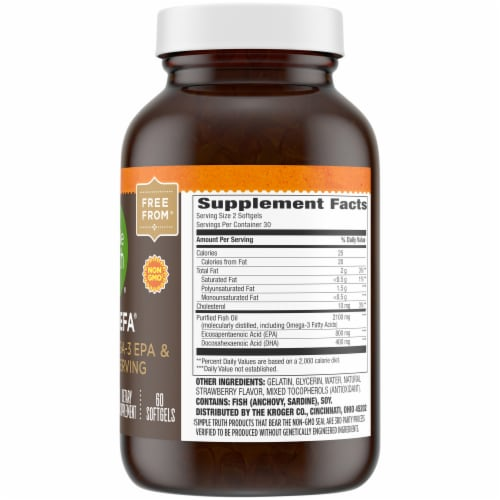 Simple Truth® 1200 mg Mega EFA with Omega-3 EPA & DHA Softgels Perspective: right
