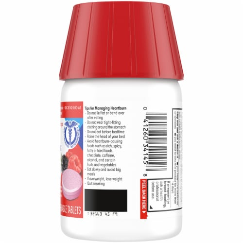 Kroger® Dual Action Complete Berry Acid Reducer & Antacid Chewable Tablets Perspective: right