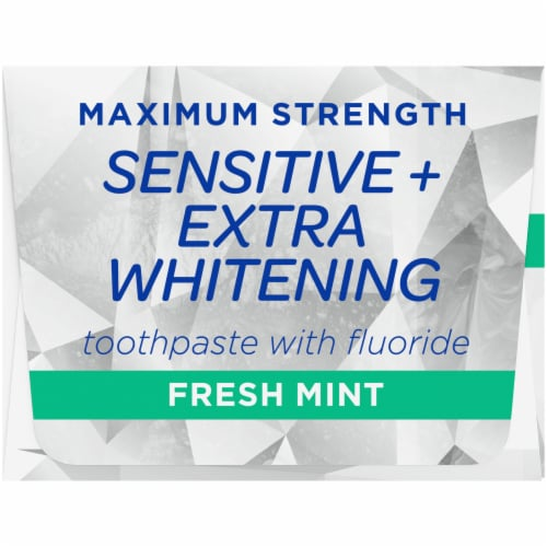 Kroger® Fresh Mint Sensitive Extra Whitening Toothpaste Perspective: right