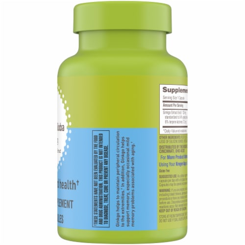 Kroger® Ginkgo Biloba 120 mg Mind Health Capsules Perspective: right