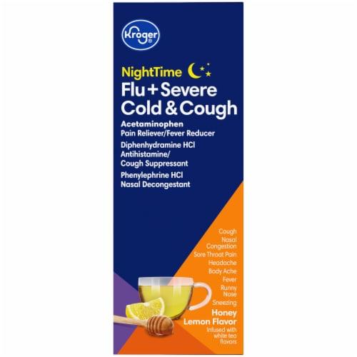 Kroger® NiteTime Honey Lemon Flavor Flu + Severe Cold & Cough Packets Perspective: right