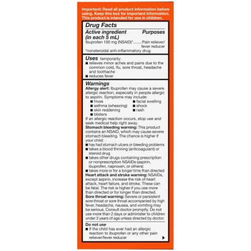 Kroger® Children's Ibuprofen Berry Flavor Oral Suspension Liquid Perspective: right