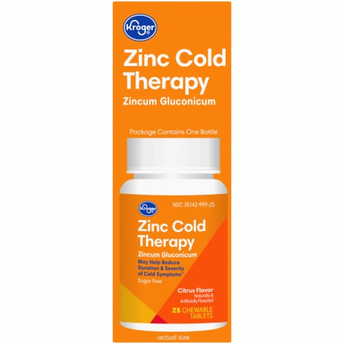 Kroger® Zinc Cold Therapy Citrus Flavor Quick Dissolve Tablets Perspective: right