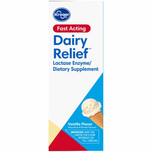 Kroger® Vanilla Flavor Dairy Relief Chewable Tablets Perspective: right