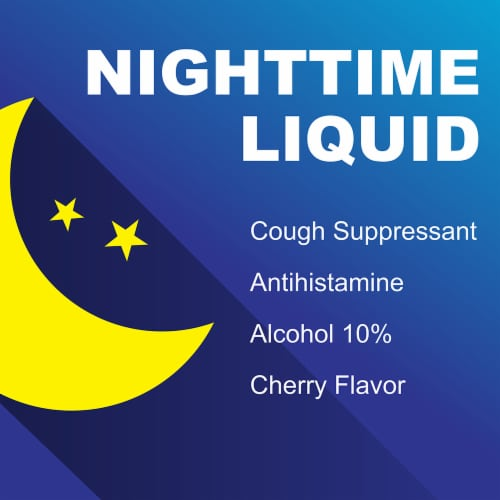 Kroger® Cherry Flavor NightTime Cough Relief Liquid Perspective: right