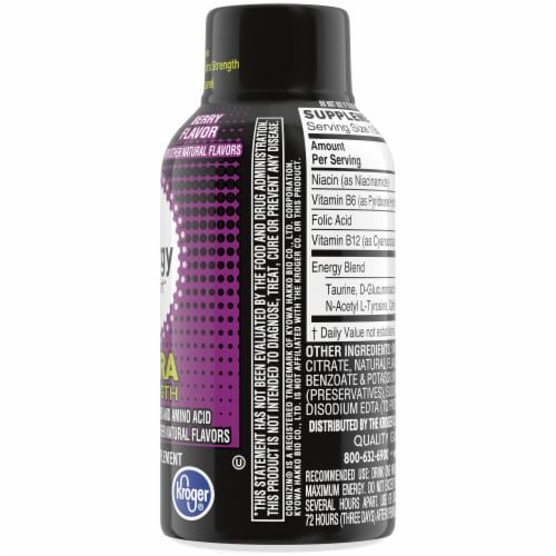 Kroger® Extra Strength Berry Flavored Liquid Energy Support Perspective: right