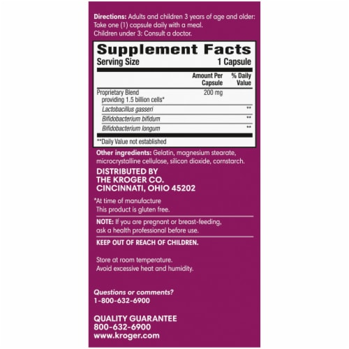 Kroger® Probiotic Colon Support Capsules Perspective: right