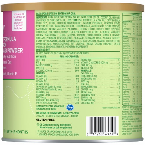 Comforts™ Soy-Based Infant Formula Powder With Iron Perspective: right