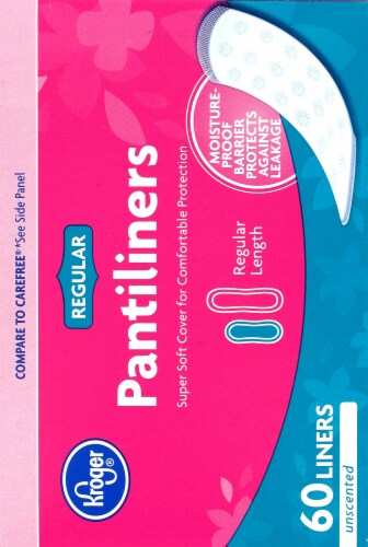 Kroger® Unscented Pantyliners Perspective: right