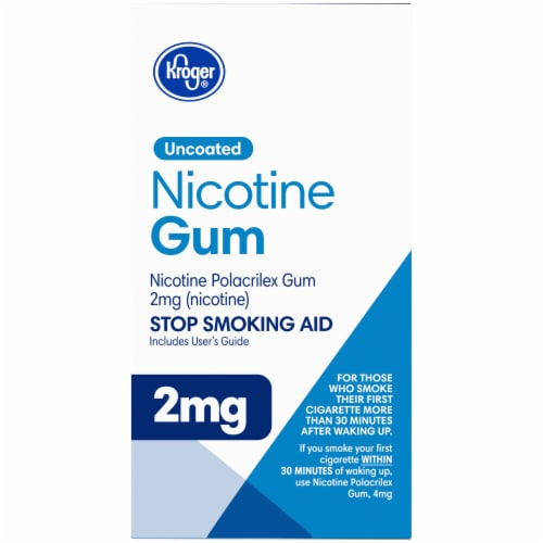 Kroger® Uncoated Original Nicotine Gum 2mg Perspective: right
