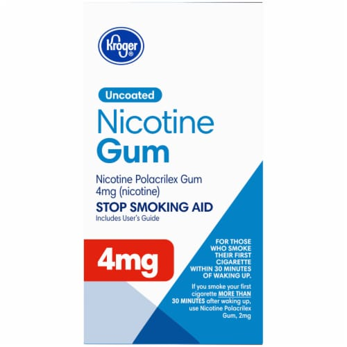Kroger® Uncoated Original Nicotine Gum 4mg Perspective: right