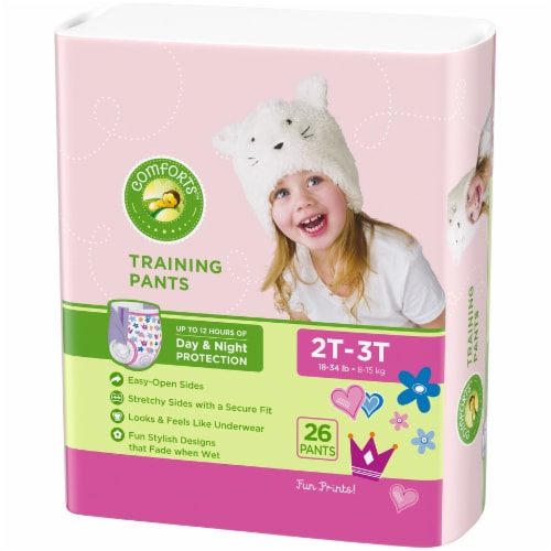 Comforts 2T-3T Girls Day & Night Training Pants Perspective: right