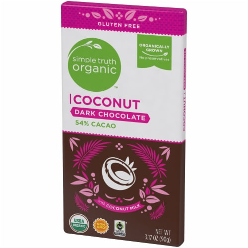 Simple Truth Organic™ Coconut 54% Cacao Dark Chocolate Bar Perspective: right