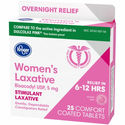 Kroger® Women's Stimulant Laxative Comfort Coated Tablets 5mg Perspective: right