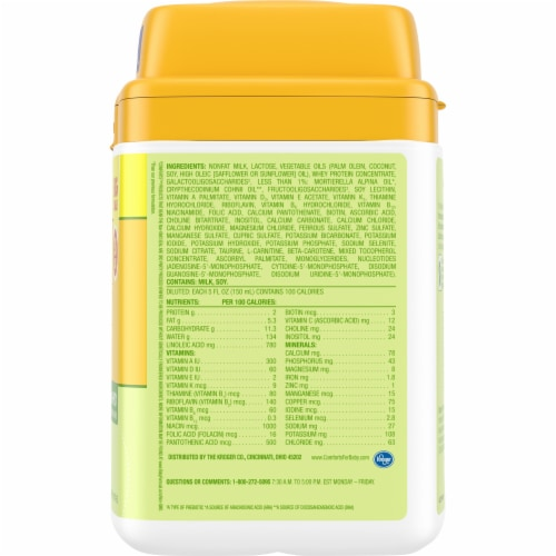 Comforts™ Infant Milk-Based Infant Formula Powder With Iron Perspective: right