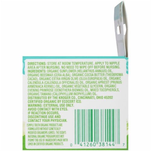 Simple Truth Organic™ Unscented Nipple Balm Perspective: right