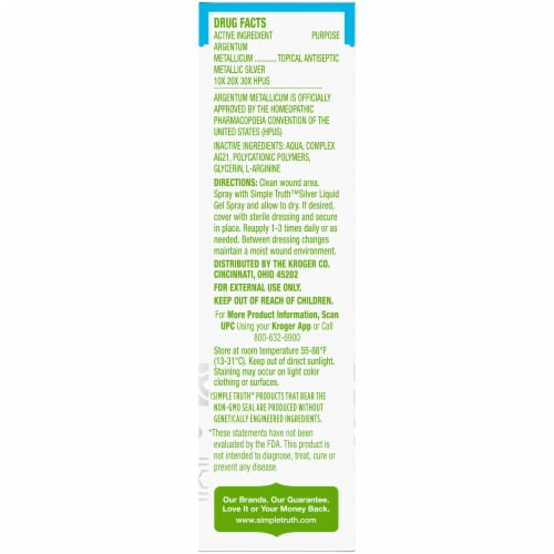 Simple Truth™ Silver Liquid Gel Wound Spray Perspective: right