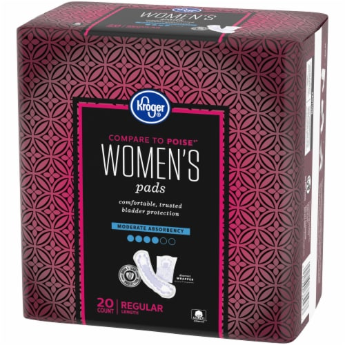 Kroger® Regular Length Moderate Absorbency Pads for Women Perspective: right