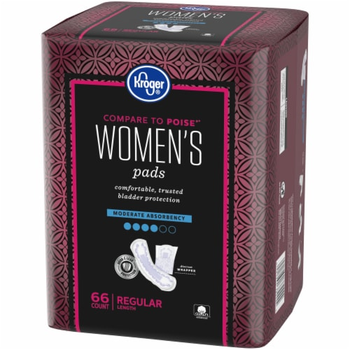 Kroger® Women's Regular Moderate Absorbency Pads Perspective: right